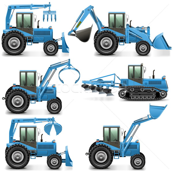 Vector Agricultural Tractor Set 3 Stock photo © dashadima