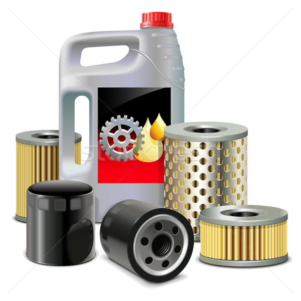 Vector Engine Oil and Filters Stock photo © dashadima