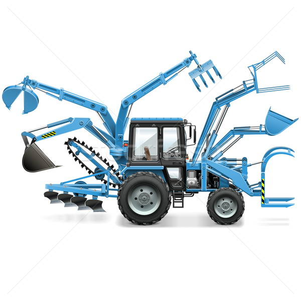 Vector Multi Tractor Stock photo © dashadima