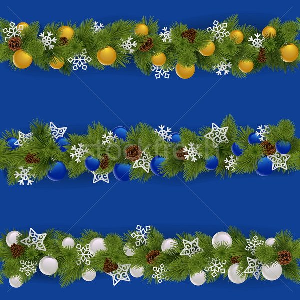 Vector Christmas Borders Set 2 Stock photo © dashadima