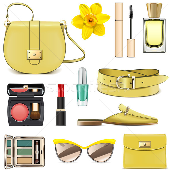 Vector Yellow Fashion Accessories Stock photo © dashadima