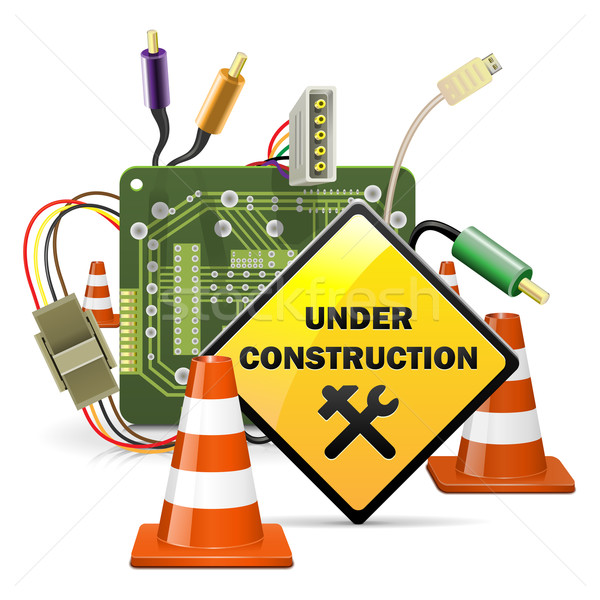 Vector Under Construction Concept with Sign Stock photo © dashadima