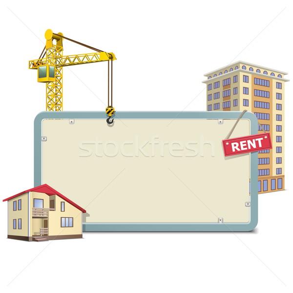 Vector Homebuilding Board Stock photo © dashadima
