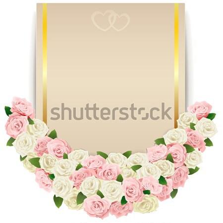 Vector Wedding Flower Card Stock photo © dashadima