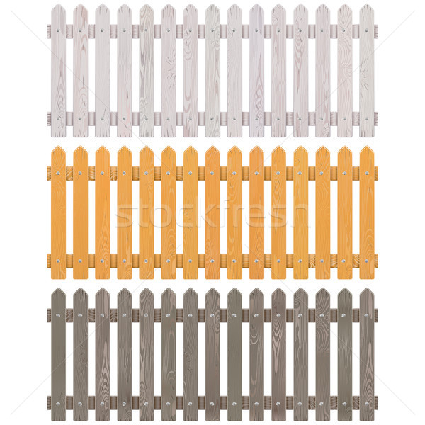 Vector Wooden Picket Fence Stock photo © dashadima