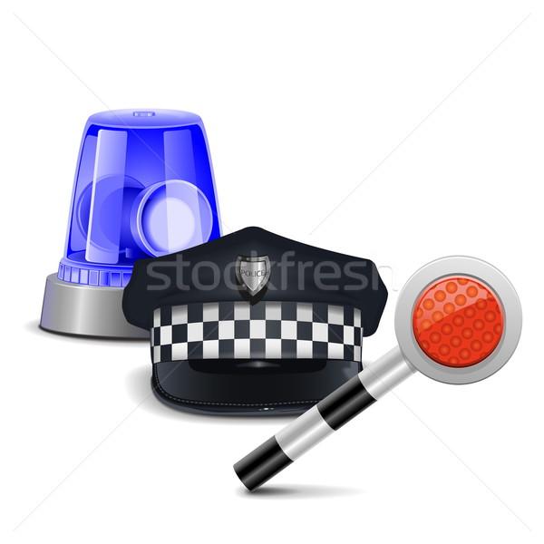Vector Police Control Concept Stock photo © dashadima