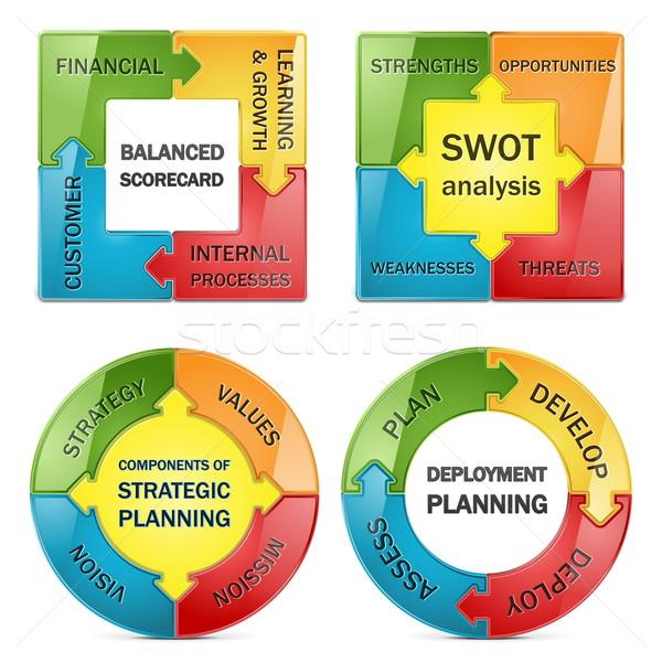 Vector diagram of strategic management Stock photo © dashadima