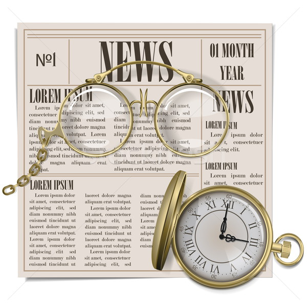 Vector Retro Newspaper Concept Stock photo © dashadima