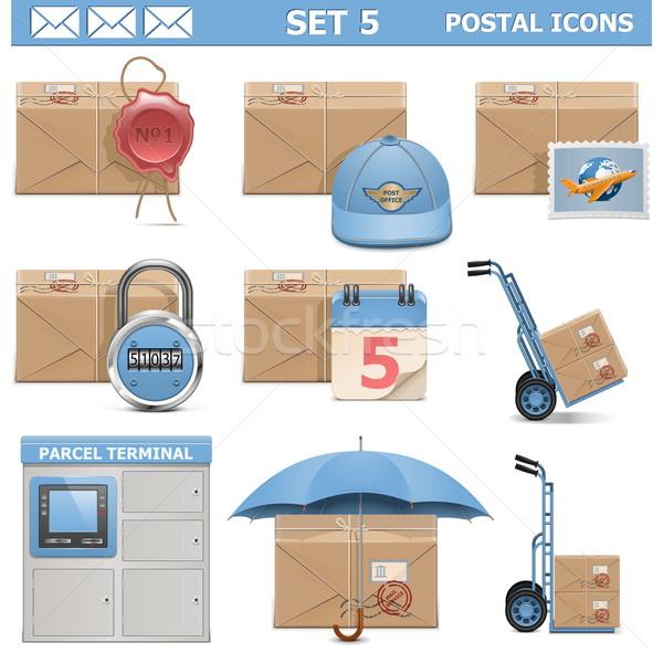 Vector Postal Icons Set 5 Stock photo © dashadima