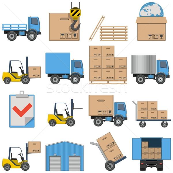 Vector Flat Icons - Shipping Stock photo © dashadima