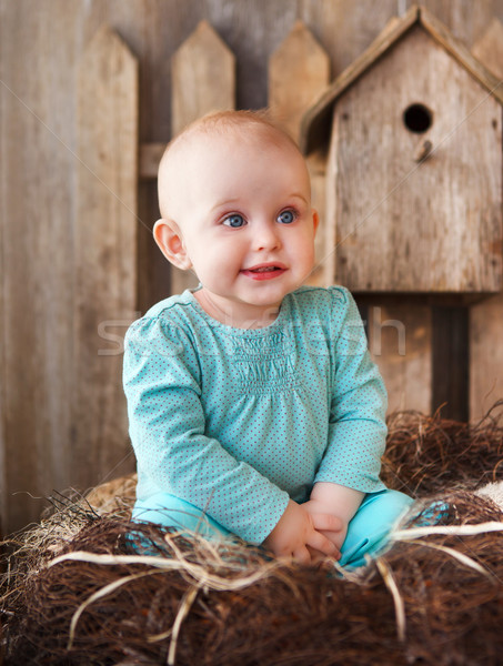 Cute smiling ten month old baby  Stock photo © dashapetrenko