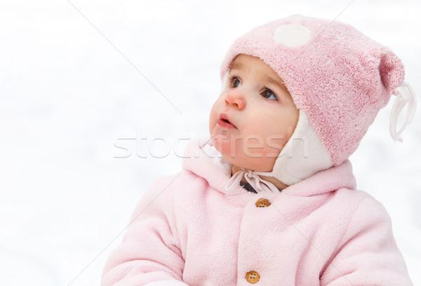 Feliz engraçado bebê inverno parque neve Foto stock © dashapetrenko