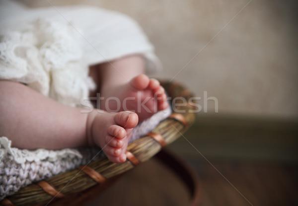 Malutki baby stóp palce Zdjęcia stock © dashapetrenko
