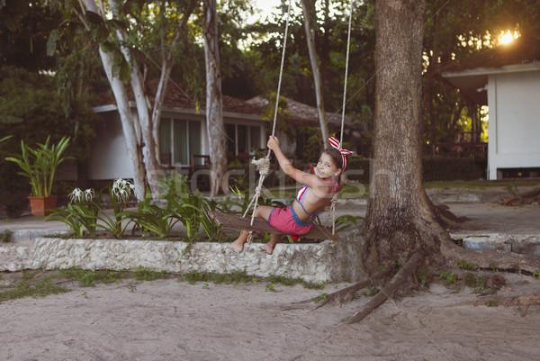 девочку шин Swing лет день Сток-фото © dashapetrenko