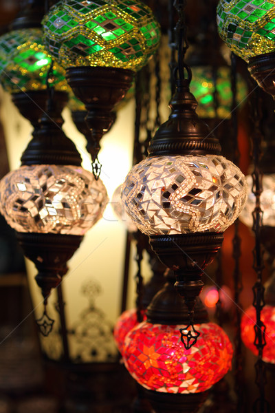 Traditional vintage Turkish lamps  Stock photo © dashapetrenko