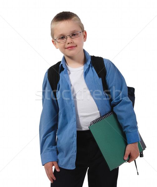 School boy in glasses  Stock photo © dashapetrenko