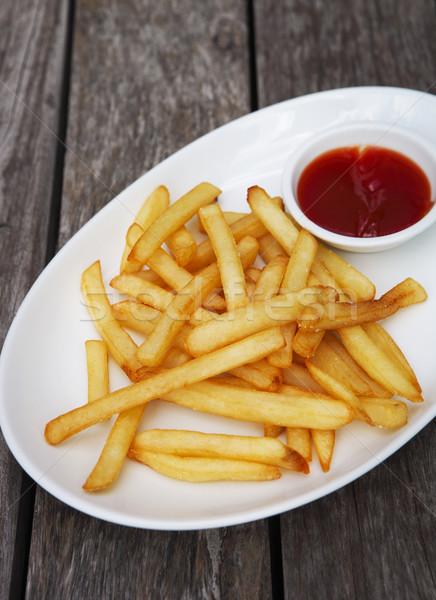 Ketchup branco prato textura Foto stock © dashapetrenko