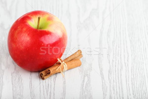 リンゴ シナモン 1 赤いリンゴ 白 自然 ストックフォト © dashapetrenko