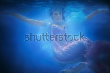 Subacuático retrato mujer piscina agua Foto stock © dashapetrenko