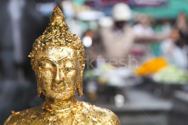 Buda estátua Tailândia templo madeira Foto stock © dashapetrenko