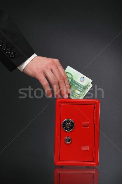 Dinero trabajo negocios euros hombre Foto stock © dashapetrenko