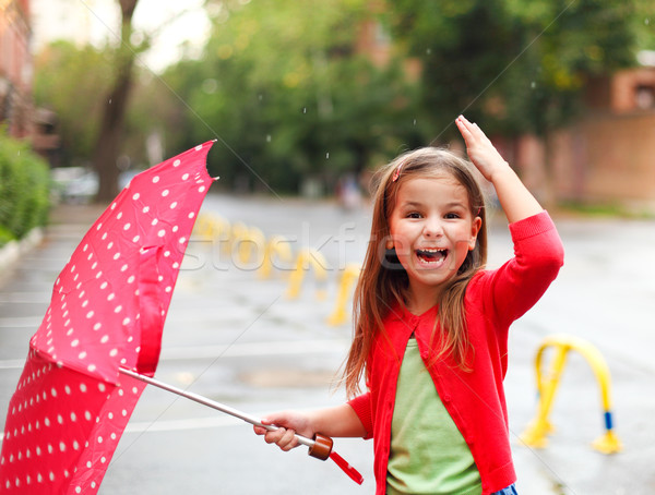 little girl under the rain  Stock photo © dashapetrenko