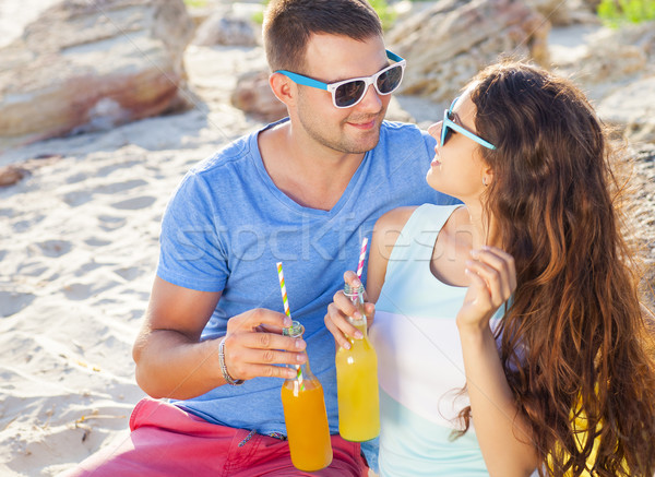 молодые счастливым пару любви лет пикника Сток-фото © dashapetrenko