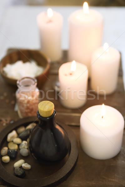 существенный соль свечей Spa Сток-фото © dashapetrenko