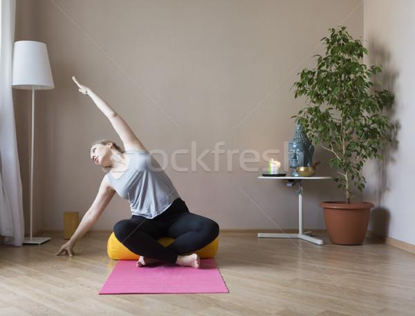Photo stock: Yoga · âge · moyen · fille