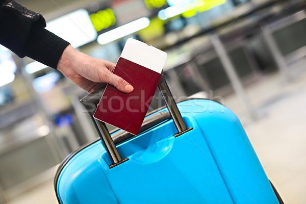 Embarquement passeport bagages affaires Photo stock © dashapetrenko
