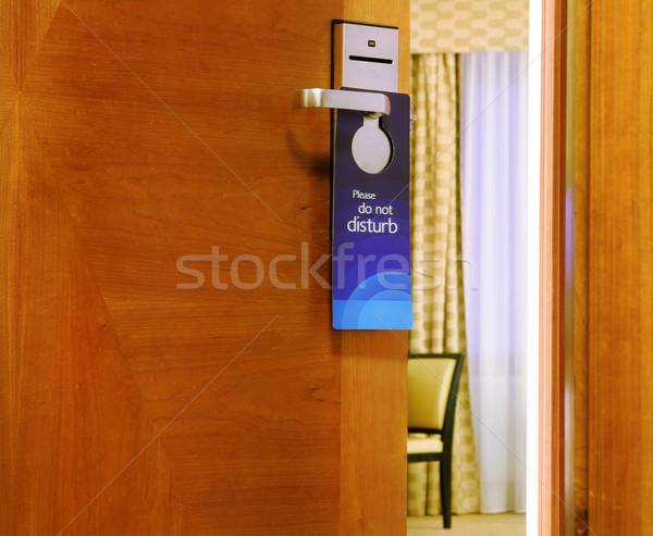 Niet teken opknoping Open deur hotel business Stockfoto © dashapetrenko