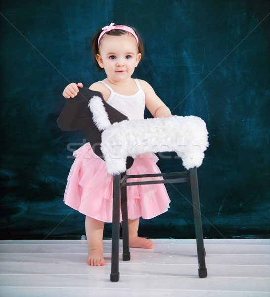портрет один год ребенка балет костюм Сток-фото © dashapetrenko