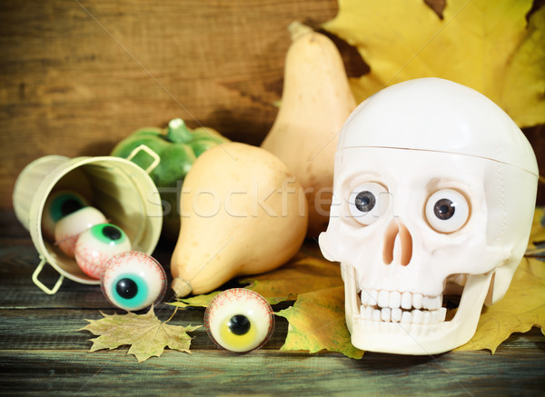 Halloween sweets and pumpkins Stock photo © dashapetrenko