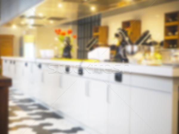 Wazig keuken interieur werken plaats hout abstract Stockfoto © dashapetrenko