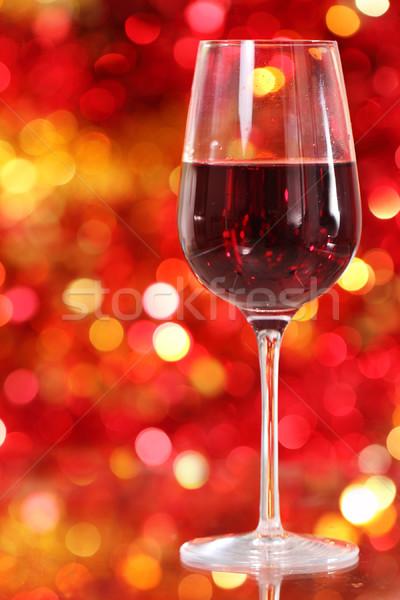One glass of the red wine  Stock photo © dashapetrenko