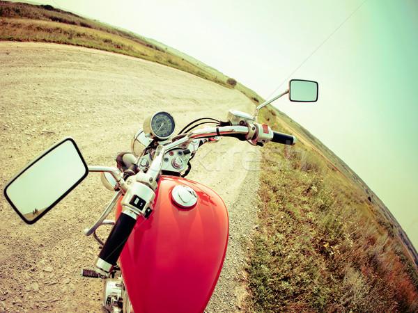 мнение кокпит современных мотоцикл улице Сток-фото © dashapetrenko