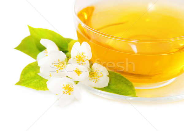 Cup of the jasmin tea Stock photo © dashapetrenko