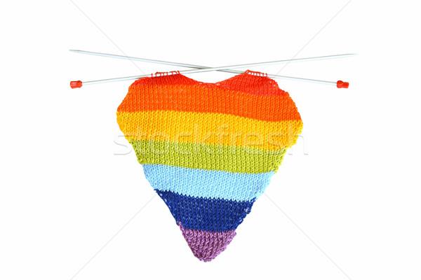 Multicolore cuore forma bianco felice Foto d'archivio © dashapetrenko
