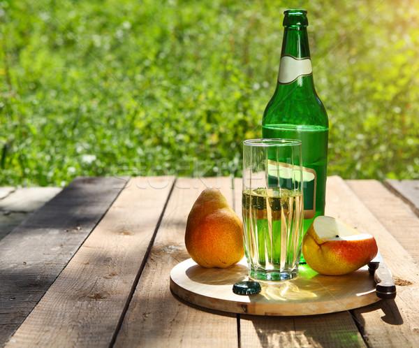 Peer cider peren zomer picknick tuin Stockfoto © dashapetrenko