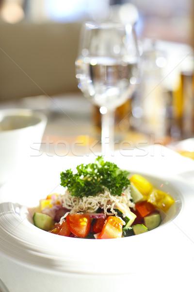 свежие Салат помидоров огурца сыра Сток-фото © dashapetrenko