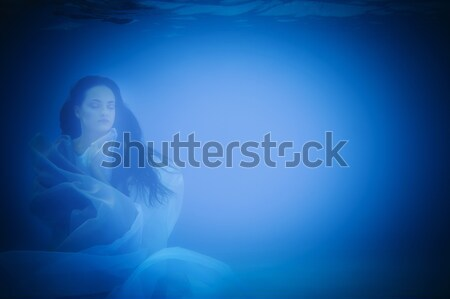 Underwater woman close up Stock photo © dashapetrenko