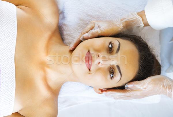 Ritratto trattamento termale faccia massaggio Foto d'archivio © dashapetrenko