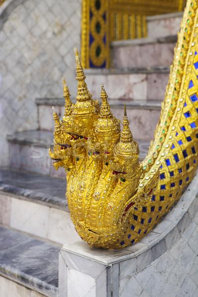 Templo esmeralda Tailândia detalhes edifício folha Foto stock © dashapetrenko