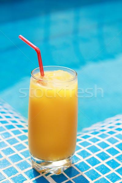 オレンジジュース 水 自然 クロス オレンジ 青 ストックフォト © dashapetrenko