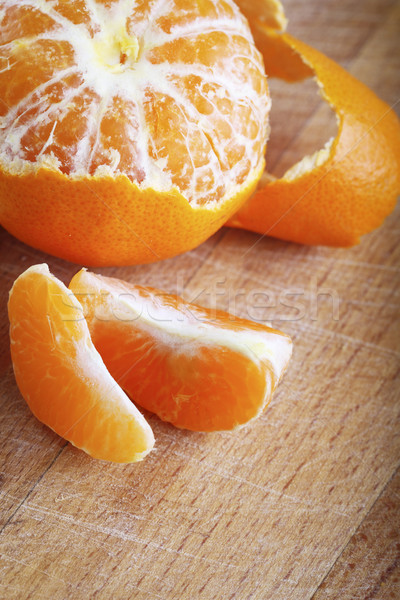 Tangerine. Close up Stock photo © dashapetrenko
