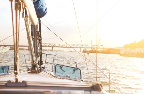 Sailboat detailed parts. Yachting concept Stock photo © dashapetrenko