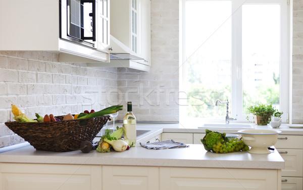 Classical white kitchen at home  Stock photo © dashapetrenko