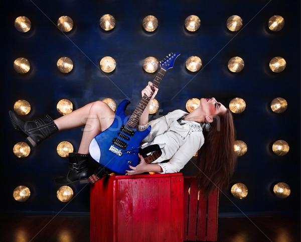 Atrakcyjny punk dziewczyna cool uzupełnić Zdjęcia stock © dashapetrenko