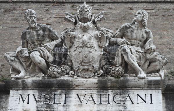 Bejárat Vatikán múzeum fölött művészet utazás Stock fotó © dashapetrenko