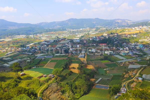 Foto stock: Belo · ver · cidade · blue · sky · Vietnã · popular
